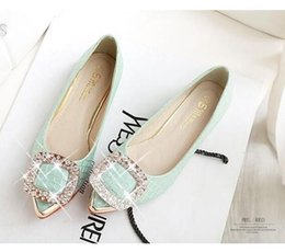 $enCountryForm.capitalKeyWord Canada - Rhinestone Buckle flat shoes leather shoes size small Peas female age 41-43 large size shoes spring scoop ship