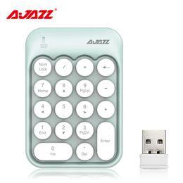 $enCountryForm.capitalKeyWord NZ - New Portable Ajazz AK18 2.4G Wireless Digital Keyboard USB Number Pad 18 Keys Mini Numeric Keypad For Laptop PC Notebook Desktop