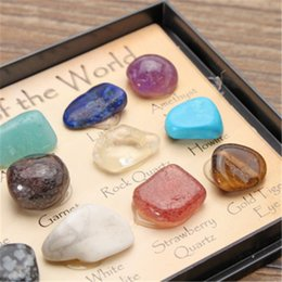 gem types Canada - 1 Pack Rock Collection Mix Gems Crystals Natural Mineral Ore Specimens Gemstone with Box Home DIY Decoration Ornaments