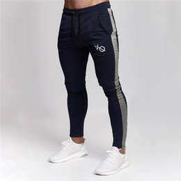 fitness running pants for men 2019 - Running Training Pants Mens Sport Clothes Joggers Pants Male Fitness Bodybuilding for Runners Sweatpants Trousers Britch