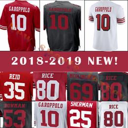 San Francisco 49ers 10 Jimmy Garoppolo 16 Joe Montana 25 Richard Sherman  Men s football jerseys 2018-2019 NEW 7acde812b
