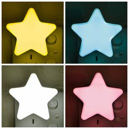 AutomAtic christmAs light online shopping - Star Shape Wall Light Led Flashing Lamp Night Lights For Children Party Bedroom Decor Automatic Sensor Christmas Decoration Gifts HH7