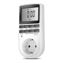 EU / US Plug Portable Minuterie numérique plug-in 24h Semaine 7 jours avec écran LCD pour appareils électroménagers Lumières / TV / PC / Ventilateurs / Cuisine