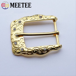 Frees 35mm Australia - Metal Diamond Women'S Belt Buckle Head Golden Pin Buckle Zinc Alloy Buckle Inside Size 35mm Weight 20g