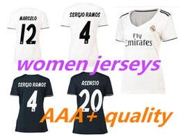bc43656ed Top Thai 18 19 women Real madrid Home soccer Jersey 2018 lady NAVAS RONALDO  ASENSIO BALE RAMOS ISCO MODRIC MEN Away feminine football shirt
