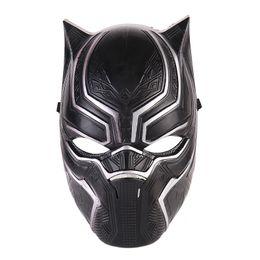 Máscara de pantera negra Máscara de Halloween Realista para hombres Fiesta de látex Navidad PVC Cosplay Disfraz para adultos Mascarada Película navideña Fantástico
