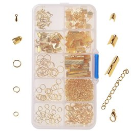 Wholesale Bracelet Kit DIY Jewelry Findings Bookmark Pinch Set Necklace Chain Extenders Lobster Buckles Button Tail Clip Closed Loop Free DHL G938F