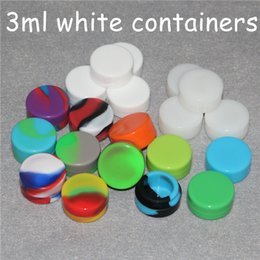 Silicone Toys Australia - 100pcs White 3ml Air Tight Odorless Medical Silicone Jar Container Oil Containers Silicone Container Jars Dab Silicone Wax Container