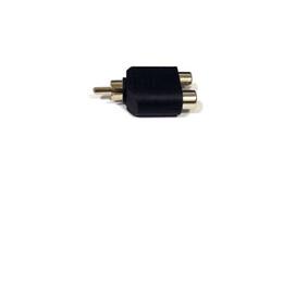 $enCountryForm.capitalKeyWord UK - 200pcs Converter RCA Male to 2RCA Female AV Audio Y-Splitter Plug Adapter 1 Male to 2 Female Extender Connector