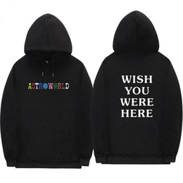 Wholesale letter sweatshirts for sale – custom Travis Scott Astroworld WISH YOU WERE HERE hoodies fashion letter print Hoodie streetwear Man and woman Pullover Sweatshirt W2089