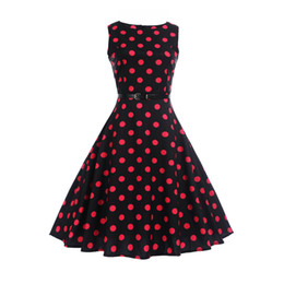 7804b7fb8a Amazon fast sale EBAY hot sale hot style women s clothing the 50S vintage  dot print dress has a belt