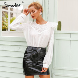 $enCountryForm.capitalKeyWord Canada - wholesale Sexy white embroidery blouse shirt women Vintage ruffle overlay cotton blouse female lantern sleeve autumn blusas 2018