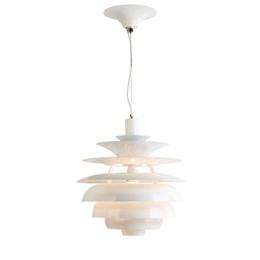 "$enCountryForm.capitalKeyWord UK - 16"" Modern White Aluminum restaurant Ceiling Pendant Light Italy Dining Room contracted Pendant Lighting Lamps Bar Counter Pendant Light"