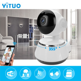 ptz video camera Canada - video surveillance IP Pet camera 720P HD baby monitor mini wi-fi PTZ 355 degree Support onvif 2.0 wireless Home camera YITUO