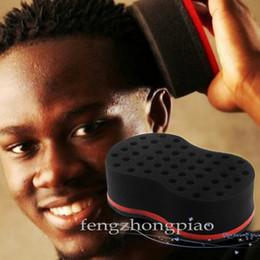 Hair Locking Tool Australia - FZP Magic Double Head Sponge 20pcs Men Barber Hair Brush Black Dreads Locking Afro Twist Curl Coil Brush Hair Styling Tools Hair Care