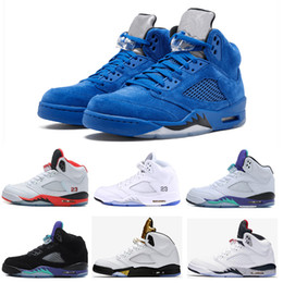 Classic Sport Discount NZ - Best classic 5 5s V Mens Basketball Shoes sneaker Olympic black Cement OG space jam red blue Suede Fire Red Sports trainer discount