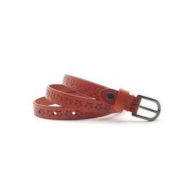 $enCountryForm.capitalKeyWord UK - High Quality Star Printed Red Genuine Leather Casual Jeans Cow Skin Retro Geometric Buckle Belt for Women 1.8cm Wide Starp