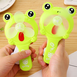 $enCountryForm.capitalKeyWord Canada - Lovely Frog Fan Portable Hand Held Desk Humidification Cartoon Mini Hand Pressure Fans Ventilador Mini Handheld Water Mist Fan Present Toy