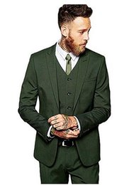 Chinese  2018 Custom Made Slim Fit Green Formal Dress Men Suit Wedding Suits For Men Groom Prom Suits Best Man Tuxedo 3 Pieces manufacturers
