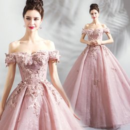 $enCountryForm.capitalKeyWord NZ - Blush 3D Floral Appliques 2018 Evening Dresses Sweetheart Beaded Ball Gown Prom Dresses Luxurious Vintage Bridesmaid Formal Party Gowns