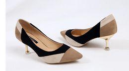 $enCountryForm.capitalKeyWord Canada - Free send 2018 Korea's autumn new style Blue Patchwork Fine heel pointed end high heel women's shoes