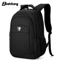 male laptop bags 2019 - Boshikang High Quality Waterproof Oxford Business Laptop Bag Male Large Capacity Men Travel Bag Casual Style Backpack Me