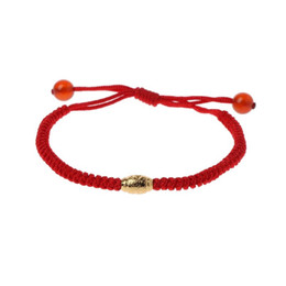 $enCountryForm.capitalKeyWord UK - Hot New Handmade Kabbalah Red String Evil Eye Protection Bracelet with Lucky Gold Beads