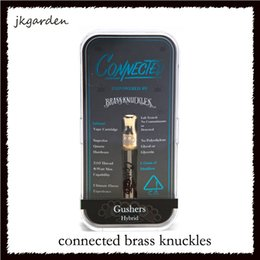 Chinese  Connected Brass Knuckles Glod Cartridges With 18 kinds Flavour Sticker Dual Cotton Coil 0.5ml 1.0ml Capacity Pyrex Tank DHL Free 0266213-2 manufacturers