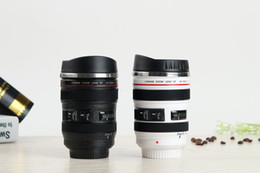 Camera drink online shopping - Hot Sale Stainless Steel Camera Mugs ECO Friendly Camera Lens Coffee Cup Household Drink Water Cups Creative Photography Lovers Cup