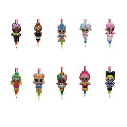 Wholesale Creative LOL Figure Pens stationery Office Item Kids Gifts Pen Topper Pencil Decoration Cartoon Souvenir Free Shipping
