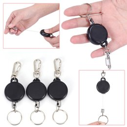 $enCountryForm.capitalKeyWord Australia - 60cm Retractable Keychain Badge Reel Retractable Recoil Ski Pass ID Card Holder Key Ring Key Chain Steel Cord