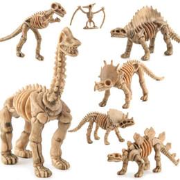 Mini plastic dinosaurs online shopping - Skeleton Simulation Dinosaurs Model Set Mini Dinosaur Model Action Figures Kids Educational Novelty Items OOA5801