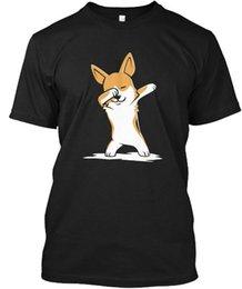 Toptan satış Dabbing Köpek Corgi Komik Popüler Tagless Tee Tişört