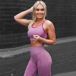 hot fitness clothes for women 2019 - Women Yoga Sets Fitness Sport Bra+Yoga  Pants 56894bc7e