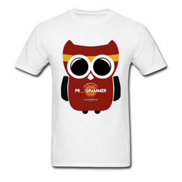 Owl Programmer T shirt Cute Picture Custom Top Camisetas Pure Cotton O-Neck Men Tops Camisetas Brand New Top T-shirts Well Chosen