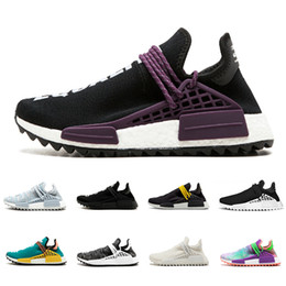 outdoor sports lighting 2020 - Cheap Human race sneaker equality cream white Core black nerd Holi BBC Canvas Colette men women sports shoes trainer run