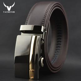 Designer Leather Trousers Australia - VACHECUIR mens designer belts for men brand leather belt cowskin Automatic buckle business trouser strap ceinture homme W164