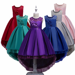 baby girls formal wear UK - Children Dresses For Girls princess Kids Formal Wear Princess Dress For Baby Girl 8 10 12 Year Birthday Party Dress