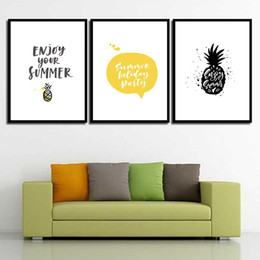 $enCountryForm.capitalKeyWord Canada - Painting Print HD Picture Watercolor Canvas Poster Cartoon Pineapple Nordic Wall Art Living Room Bedroom Bedside Home Decor