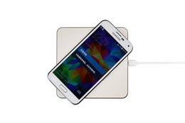 Discount apple handset New Luxury Qi Wireless Charging Metal Pad Charger for iPhone X 8 8 Plus Samsung Note 8 S8 S8 Plus Qi Standard Handset wi