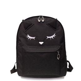 Cute Backpacks For Teenage Girls Australia - Women Black Pink Nylon Cute Kawaii Backpack Travel Laptop Teen Backpacks Rucksack Schoolbag School Bag For Teenage Girls Student
