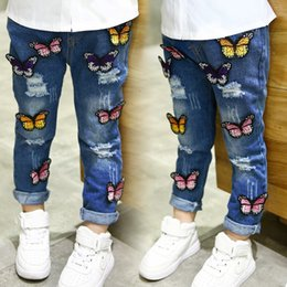 5c12d5e2686 Korean dress jeans online shopping - Girls Jeans Kids Pants Ripped Jeans  Korean Girl Dress Denim
