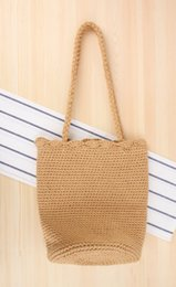 Hand Hooked Bag Australia - Wholesale and retail 2018 wild single shoulder woven bag hand hook cotton rope holiday beach leisure bag