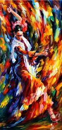 $enCountryForm.capitalKeyWord NZ - handmade dance painting knife painting Leonid Afremov artist canvas painting reproduction oil pictures unique gifts Kungfu Art