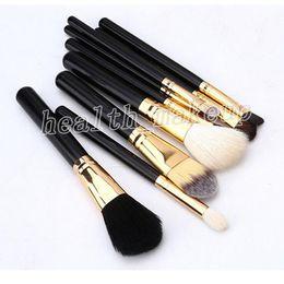 $enCountryForm.capitalKeyWord Australia - M Brands Top Quality Makeup 9 PCS Brushes Sets Black Color Professional Face Eye Making Up Brush Kits +Free Cosmetic Bag DHL Free Shipping