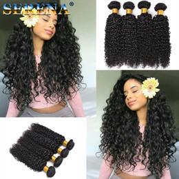 $enCountryForm.capitalKeyWord NZ - 4pcs lot Cheap Brazilian Hair Weave Bundles Natural Black Curly Human Hair Extensions for Braid 2018Deal Water Wave Curly 30 Inch Bundles