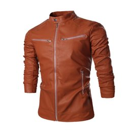 China Men Brand Faux Leather Jacket Movie Stars Designer Jacket Mens Coat cheap stars leather suppliers