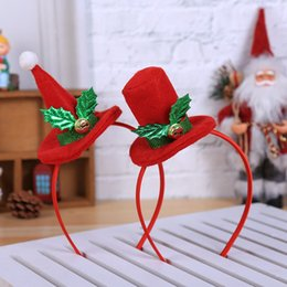 Hair Head Hoop NZ - Christmas Decorations For Home Hot Christmas Headband SantaXmas Party Decor Double Hair Band Clasp Head Hoop Xmas Decoration 2pcs