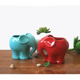 $enCountryForm.capitalKeyWord Australia - Modern 1pc Minimalist Elephant White Ceramic Planter For Succulents Decorative Succulents Pot Mini Flower Pot Home Garden Decoration