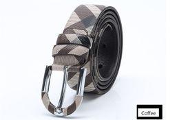 $enCountryForm.capitalKeyWord NZ - Pin buckle luxury belts designer genuine leather belt for men Plaid pattern belt male brand belts fashion mens plain without box